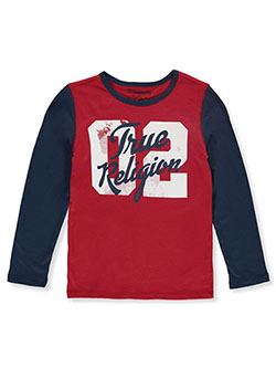 Boys' Graphic L/S T-Shirt by True Religion in Ruby