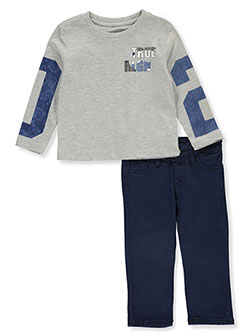 Baby Boys' 2-Piece Jeans Set Outfit by True Religion in Heather gray, Infants