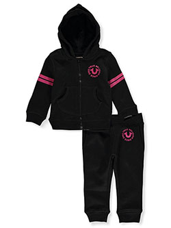 Baby Girls' 2-Piece Sweatsuit Outfit by True Religion in Black - Active Sets