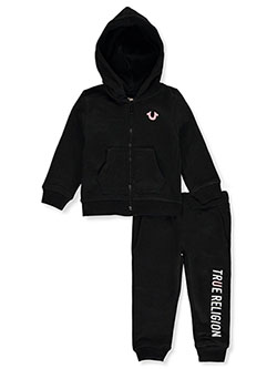 Baby Girls' 2-Piece Sweatsuit Outfit by True Religion in Black