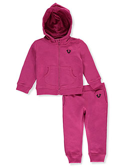 Baby Girls' 2-Piece Sweatsuit Outfit by True Religion in Fuchsia