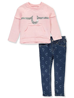 Baby Girls' 2-Piece Jeans Set Outfit by True Religion in denim and white