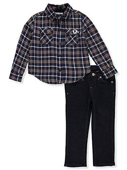 Boys' 2-Piece Jeans Set Outfit by True Religion in Navy