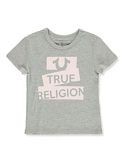 Girls' Graphic T-Shirt by True Religion in heather gray and hot pink
