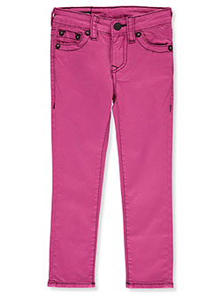Girls' Skinny Jeans by True Religion in Pink, Sizes 4-6X