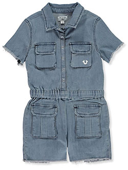 Girls' Cargo Jumper by True Religion in Blue - Overalls & Jumpers