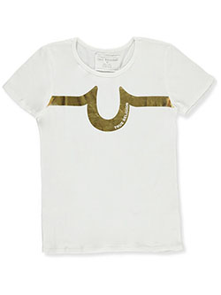 Girls' Graphic T-Shirt by True Religion in White/gold, Girls Fashion