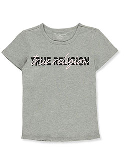 Girls' Graphic T-Shirt by True Religion in Heather gray, Girls Fashion