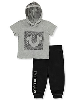2-Piece Joggers Set Outfit by True Religion in Heather gray, Infants