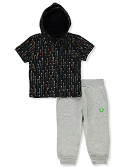 2-Piece Joggers Set Outfit by True Religion in Black, Infants