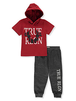 2-Piece Joggers Set Outfit by True Religion in Ruby red
