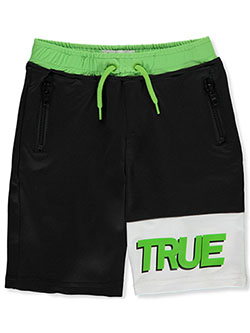 Boys' Drawstring Shorts by True Religion in Black