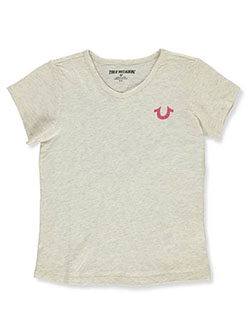 Girls' Graphic T-Shirt by True Religion in oatmeal heather and white