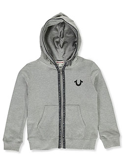 Girls' Zip Hoodie by True Religion in Heather gray