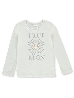Girls' L/S Graphic T-Shirt by True Religion in White