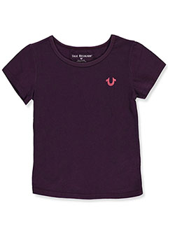 Girls' Graphic T-Shirt by True Religion in Eggplant