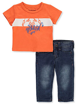 Baby Boys' 2-Piece Jeans Set Outfit by True Religion in Orange