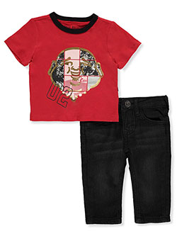 Baby Boys' 2-Piece Jeans Set Outfit by True Religion in Red