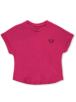 Girls' Graphic T-Shirt by True Religion in fuchsia and white, Girls Fashion