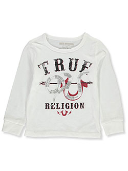 Boys' L/S Graphic T-Shirt by True Religion in White, Boys Fashion
