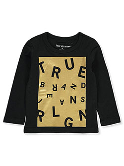 Boys' L/S Graphic T-Shirt by True Religion in Black