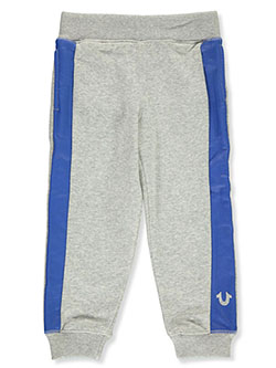 Boys' Leg Stripe Joggers by True Religion in black and heather gray
