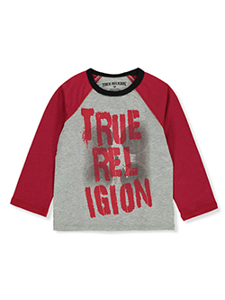 Boys' Graphic Raglan Shirt by True Religion in Heather gray