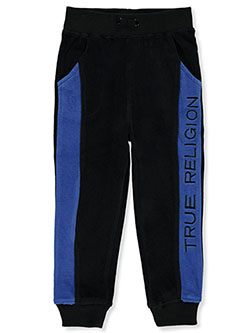 Boys' Paneled Joggers by True Religion in black and navy