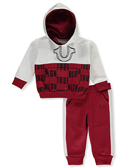 Baby Boys' 2-Piece Sweatsuit Outfit by True Religion in Ruby