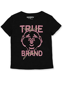 Girls' Graphic T-Shirt by True Religion in Black, Girls Fashion