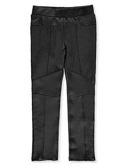 Girls' Paneled Skinny Pants by True Religion in Black, Girls Fashion