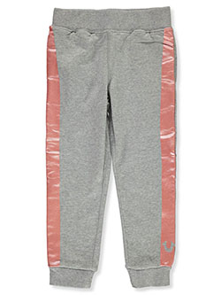 Girls' Leg Stripe Joggers by True Religion in Heather gray, Girls Fashion