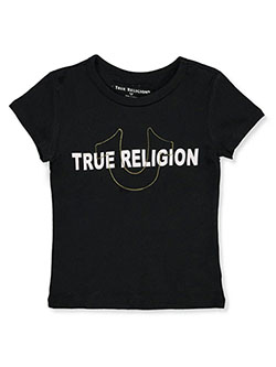 Girls' Graphic T-Shirt by True Religion in black and pink, Girls Fashion
