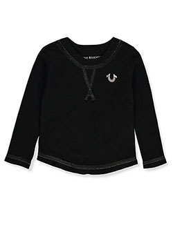 Girls' L/S Graphic T-Shirt by True Religion in Black