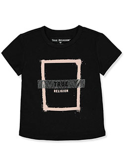 Girls' Graphic T-Shirt by True Religion in Black