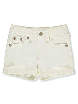 Girls' Denim Short Shorts by True Religion in White