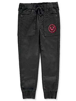 Boys' Twill Joggers by True Religion in Black