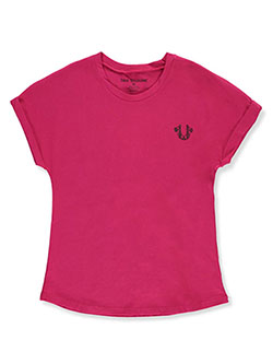 Girls' Graphic T-Shirt by True Religion in fuchsia and white