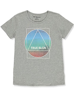 Girls' Graphic T-Shirt by True Religion in Heather gray