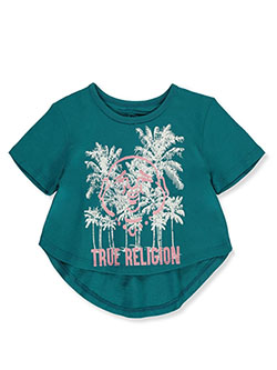 Girls' Graphic T-Shirt by True Religion in Teal, Girls Fashion