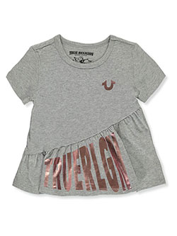 Girls' Ruffle T-Shirt by True Religion in Heather gray, Girls Fashion