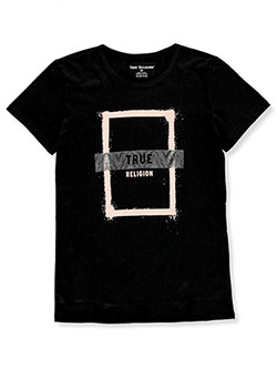 Girls' Graphic T-Shirt by True Religion in Black, Sizes 7-16