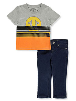 Boys' 2-Piece Jeans Set Outfit by True Religion in Heather gray, Infants
