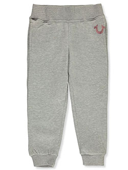 Girls' Joggers by True Religion in Heather gray, Sizes 4-6X
