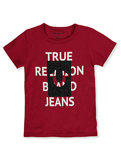 Girls' Graphic T-Shirt by True Religion in Ruby, Sizes 4-6X