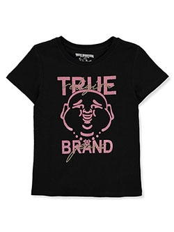 Girls' Graphic T-Shirt by True Religion in Black, Sizes 4-6X