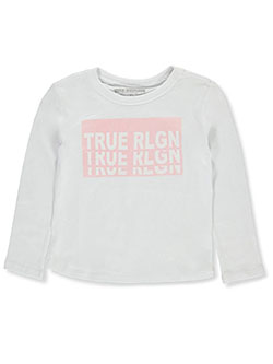 Girls' Graphic L/S T-Shirt by True Religion in White, Sizes 4-6X