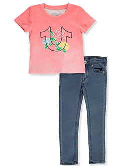 Girls' 2-Piece Jeans Set Outfit by True Religion, Sizes 4-6X