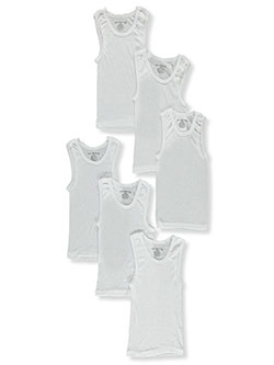 Boys' 6-Pack A-Shirts by Rocawear in White