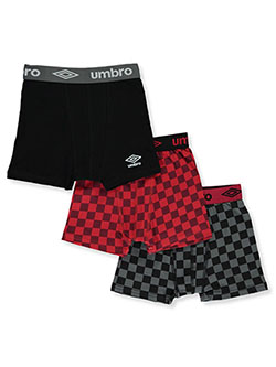 Boys' 3-Pack Boxer Briefs by Umbro in Assorted